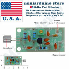 Mini Wireless Microphone Ham Spy Radio Transmitter Module 3-5V 91-103MHz
