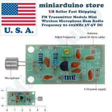 Mini Wireless Microphone Ham Spy Radio Transmitter Module 3-5V 91-103MHz