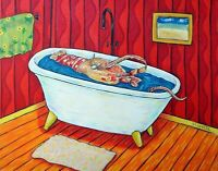lobster art bathroom wall decor 8x10  art PRINT reproduction of painting
