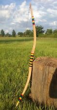 "48""handcrafted traditional wooden longbow archery handmade hickory wood bow"