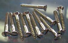 Fender '52 Telecaster Bridge Strap Button Mounting Screws Nickel (12) 0018371049