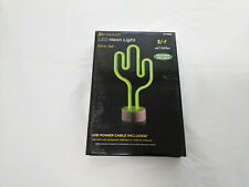 Led Cactus Neon Night Light ~ Works with Usb or Battery ~ Listing #1