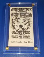 New listing Jimi Hendrix Mega Rare Vintage 1968 Fillmore Unused Tickets 4-Lot Mint In Lucite