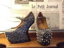 JEFFREY CAMPBELL SHOES SHADOW STUD SPIKED 6M UK 4 HEEL LESS