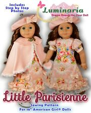 "American Girl Doll Dress Clothes Pattern 18"" Doll Blaire Grace Paris PDF"