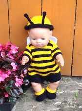 KNITTING PATTERN - Adorable Busy bee fits 15 - 18 in doll baby born