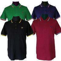 Warrior UK England Slim Fit Soul 45 Polo Shirt Cotton Black Blue Oxblood Green