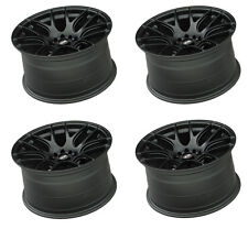 "XXR 530 19"" x 8.75J ET15 5x120 5x114.3 FLAT BLACK WIDE RIMS ALLOYS WHEELS Z3349"