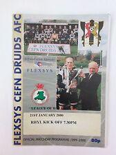 Cefn druids  v Rhyl  league of Wales   January 2000