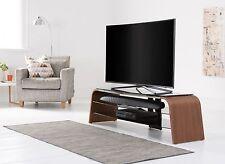 Alphason Spectrum Black Glass TV Stand in Walnut Veneer 1600mm