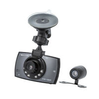 "HD Auto KFZ Video Recorder Dashcam Nachtaufnahme 2,4"" Vorder- / Rückkamera LED"