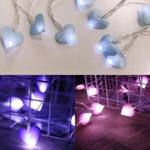 1.5M 10LED Love Heart Fairy String Lights Wedding Garden Garland Lighting Decor