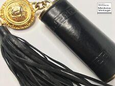 a45aa10a261d GIANNI VERSACE VINTAGE  90s LEATHER LIGHTER CASE HOLDER MEDUSA TASSEL GREEK  KEY