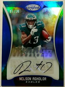 2018 CERTIFIED FOOTBALL NELSON AGHOLOR AUTO /10! SSP MIRROR SIGNATURES PATRIOTS!