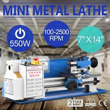 7x14 550W Mini Precision Metal Lathe 2500RPM Variable Speed Lathe 3/4HP Hot