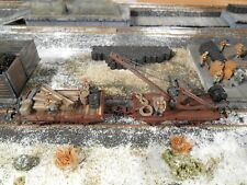HO Roco Minitanks Panzer Repair Train Crane Set #2203 Custom Detailed Weathered