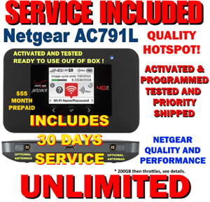 NETGEAR HOTSPOT ⭐ UNLIMITED DATA ⭐ 4G LTE DATA ⭐ PAGE PLUS $55 ⭐ VERIZON AC791L