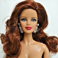 Nude Barbie Model Muse Green eyes Brunette Mackie face Holiday Mint out of Box