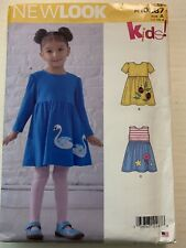 New Look Simplicity Sewing Pattern R10287 / N6647 Toddler Dress Sz. 1/2-1-2-3-4