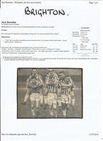 Football Autographs Jack Bertolini, Glen Wilson, Roy Little, Dave Hollins F611