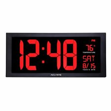 AcuRite 75100c 18-inch Large LED Clock With Indoor Temperature