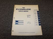 1969 Evinrude 18 HP Fastwin Outboard Motor Shop Service Repair Manual Guide Book
