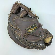 Vintage Wilson A9882 left handed Leather Softball Catchers Glove USA MADE