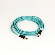 AB Ethernet Cable 1585D-M4UBDE-4  M12 Straight To M12 Right Angle 4-Meters  b358