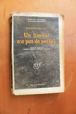 Série noire brochée EO sept 1946 un linceul n'a pas de poche horace Mac Coy SP