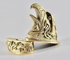 Eagle Set Knife Guard + Pommel for Custom Knives Making Handles Handmade Bronze