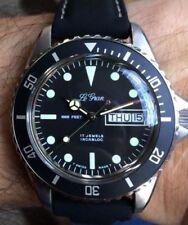 Vintage NOS MRP Monnin 37mm Diver Watch no click Bezel Le Gran Longines Rodania