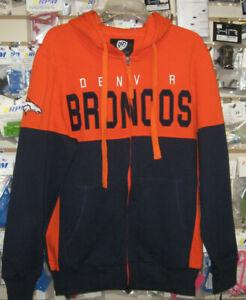 NFL NEW DENVER BRONCOS G-III HANDS HIGH FULL ZIP HOODIE SWEATSHIRT 2XL   NEW