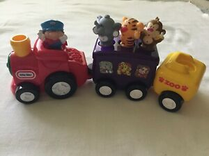 Little Tikes Zoo Animal Train - Lion Elephant Monkey - Works!