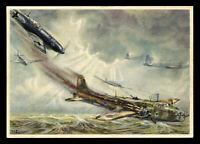 WW2 WWII Germany 3rd Reich Postcard Cover German Luftwaffe Battle British Planes