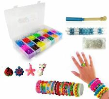 5000 COLOURFULL RAINBOW RUBBER LOOM BANDS BRACELET MAKING KIT SET