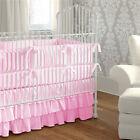 Mini Crib Baby Bedding set 5 Pc Fitted Pillowcase Comforter 3 tier Skirt Bumper