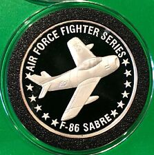 F-86 Sabre Air Force Fighter Series Ohio 1 Troy Oz .999 Fine Silver Round Coin