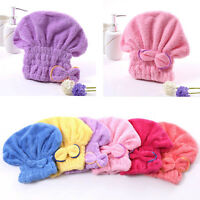 New Textile Useful Dry Microfiber Turban Quickly Hair Hat  Wrapp Towel's Bathing