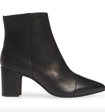 SEYCHELLES - No One Like You Ankle Bootie Boots Black Leather Revolve - 9 NWOB