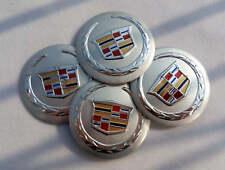 4pcs 56mm Silver Wheels Center Cap Emblem Badge Alloy Decal Sticker For Cadillac