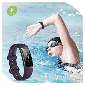 Letsfit High End Fitness Tracker Waterproof Pedometer Women Men Purple ID152 NEW