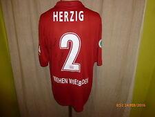 """SV Wehen Wiesbaden Nike Matchworn Trikot 2012/13 """"BRITA"""" + Nr.2 Herzig Gr.L"""