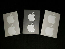 6 New Genuine Apple White Apple Logo Decal Stickers (3 Pages of 2)