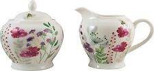 'In Bloom' Fine China Creamer Jug and Sugar Bowl in Decorative Sleeve