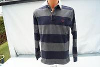GANT Herren Polo Shirt langarm Pullover Sweatshirt Gr.M gestreift sportlich TOP