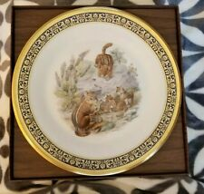 1986 Lenox Boehm Woodland Wildlife Eastern Chipmunks Plate Mint+Box Certificate