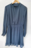FRENCH CONNECTION Textured Divvy High Neck Long Sleeve Dress Size 12