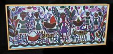83 Haitian Acrylic Painting Africa in Occident by Louisiane Saint Fleurant (Stea