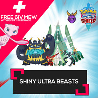 6IV ✨SHINY✨ ALL 10 ULTRA BEASTS + FREE MEW! Pokemon Sword Shield