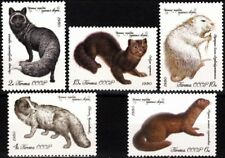 RUSSIA/USSR 1980 FAUNA: Fur Animals. Fox, Sable, Mink... MNH